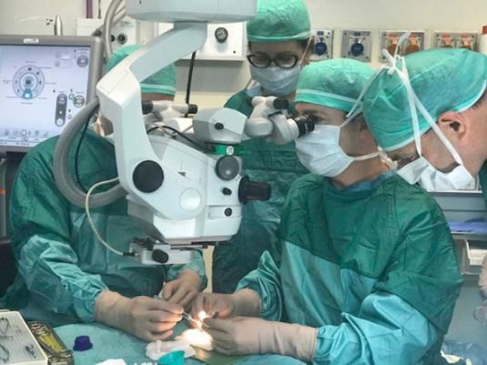 Врачи Израиля пересадили слепой женщине зуб в глаз